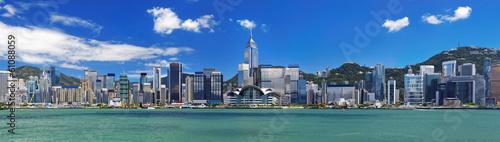 Obraz na plátně Hong Kong harbour at day