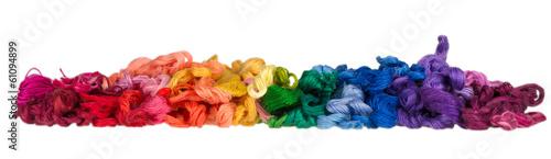 Obraz na plátně skeins of colored threads for embroidery - muline