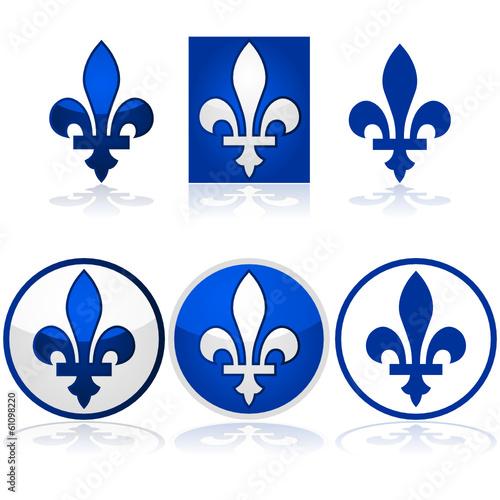 Quebec Fleur De Lys Buy This Stock Vector And Explore Similar