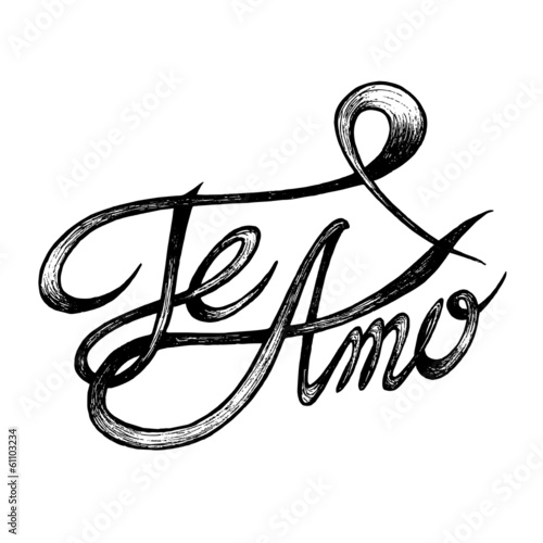Te Amo I Love You Hand Drawn Quotes Black On White Buy This New Te Amo Quotes