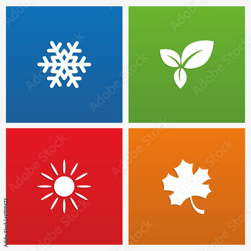Láminas  Vector illustration of seasons