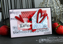 Valentine Day Handmade Card With An Envelope And Two Hearts