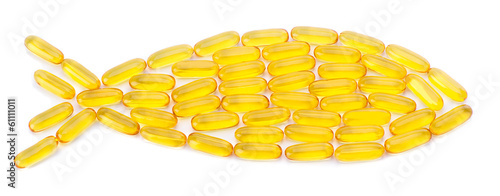 Valokuva  Fish Shaped Fish Oil