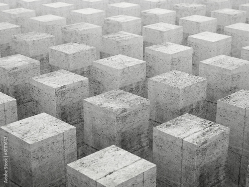 Fototapety, obrazy: Abstract construction background with gray concrete elements
