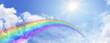 canvas print picture - Rainbow Website Banner Header