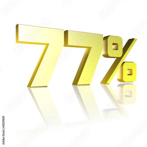 Fotografie, Obraz  77 Prozent