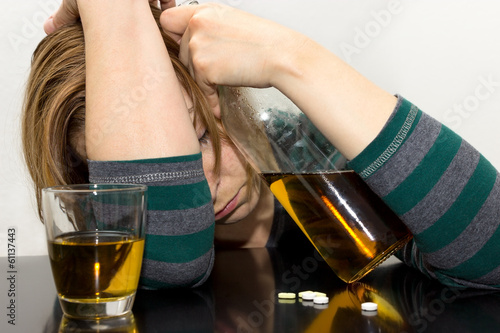 Fotografija  Betrunkene Frau