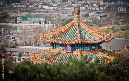 In de dag Beijing Jifang Pavilion in Jingshan Park, Beijing, China