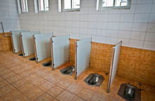Inside The Typical Public Toilet In Beijing, China
