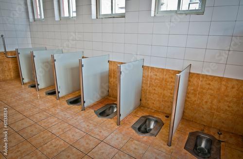 Foto auf Gartenposter Beijing inside the typical public toilet in Beijing, China