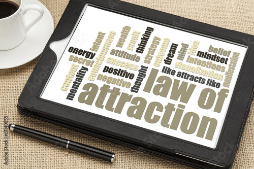 Foto  law of attraction word cloud