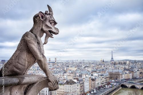 Fotografia  Blick auf Paris vom Notre Dame