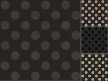 Seamless Polka Dots Black Pattern With Shiny Gradient