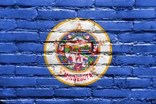 Minnesota State Flag Painted O...