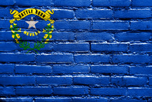 Nevada State Flag Painted On B...