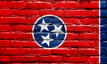 Tennessee State Flag Painted O...