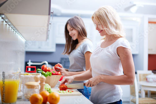 Photo  Cooking together