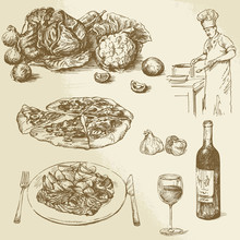 Collection Of Food - Pizza, Ve...