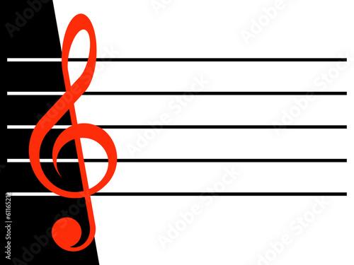 Obraz na płótnie Treble clef