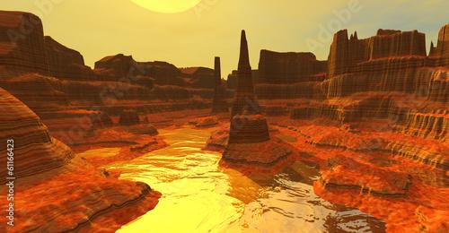 Fotografie, Obraz  Yellow canyon