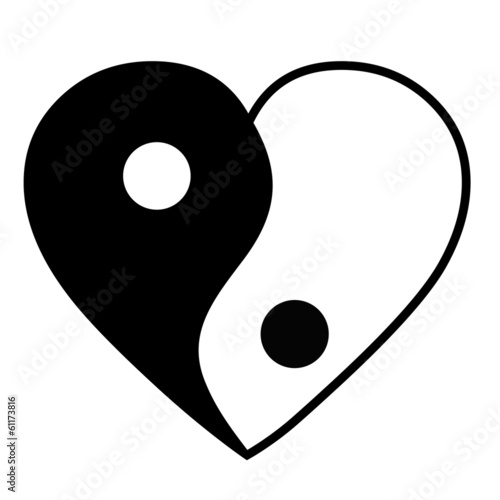Valokuva  Yin yang heart