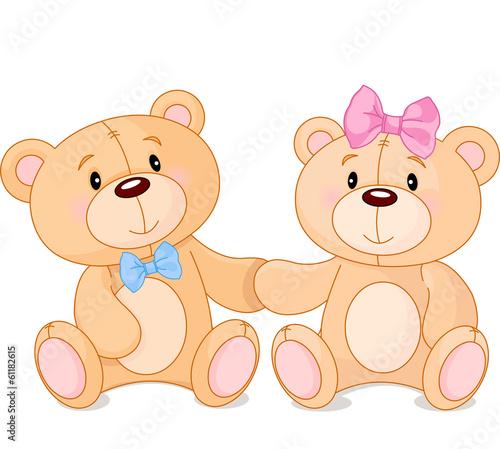 Poster Magie Teddy bears in love