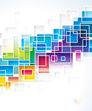 Colored squares design abstract background.