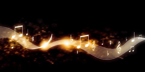 Naklejka Music background