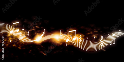 Music background Wallpaper Mural