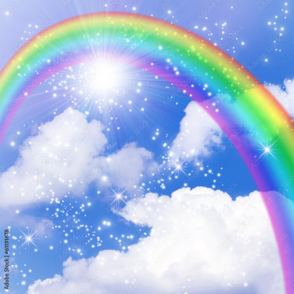 Sun and rainbow