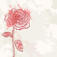 Flower grunge invitation love card
