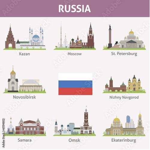 Russia. Symbols of cities Canvas-taulu