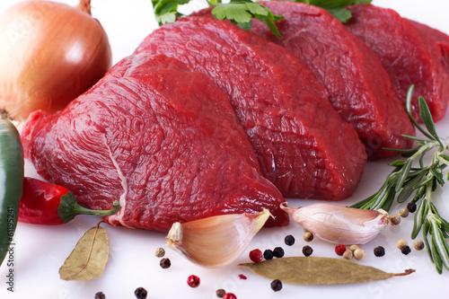 Staande foto Vlees Raw beef