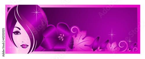 Banner Template For Beauty Salon Or Advertising Buy This Stock Vector And Explore Similar Vectors At Adobe Stock Adobe Stock
