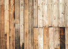 Old Brown Wooden Fence Backgro...