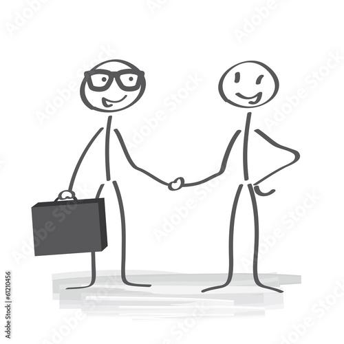 Fotografía  Vertragsabschluss, shake hands
