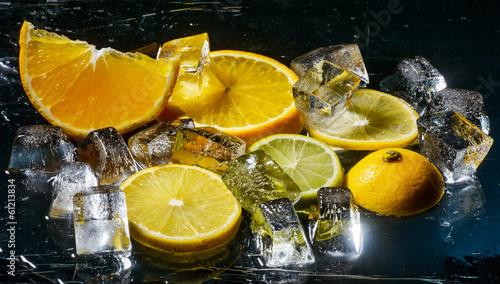 Poster Dans la glace lemon