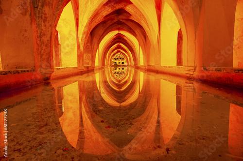 Fotografie, Obraz  Baths Banos Dona Maria de Padilla Alcazar Royal Palace Seville