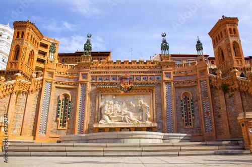 Aragon Teruel Amantes fountain in La Escalinata Spain