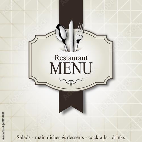 Fotografie, Obraz  Restaurant menu