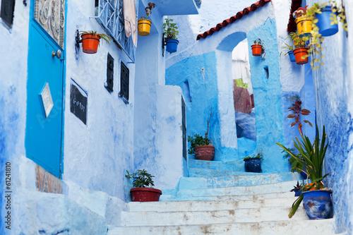 Papiers peints Maroc Beautiful blue medina of Chefchaouen city in Morocco