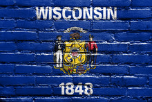 Wisconsin State Flag Painted O...