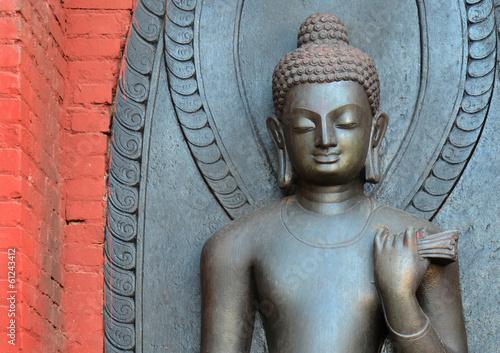 Staande foto Nepal Buddhastatue, Swayambhunath / Kathmandu, Nepal