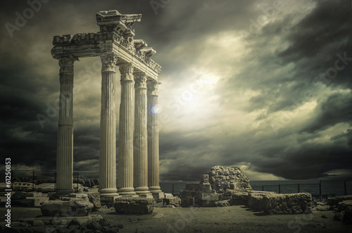 Great Apollon Temple@Antalya Canvas Print