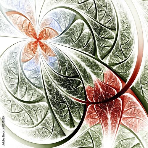 czerwony-i-zielony-fraktal-kwiat