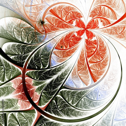 fraktal-czerwony-i-zielony-kwiat