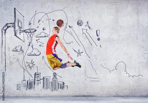 Foto op Aluminium Dance School Basketball player