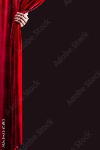 Carta da parati  Red curtain