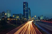 View On Evening Tel Aviv, Israel.