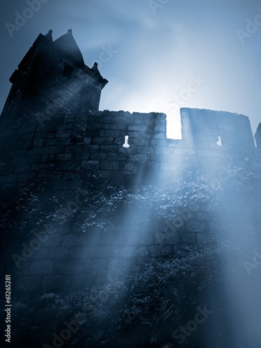 Recess Fitting Ruins Mysterious medieval castle